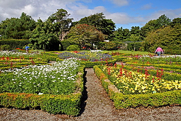 Gardens, Dunvegan Castle, Isle of Skye, Highland, Scotland, UK
