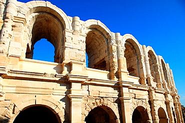 The arena of Arles city, Bouches du Rhone, Provence-Alpes-Cote d'Azur, France