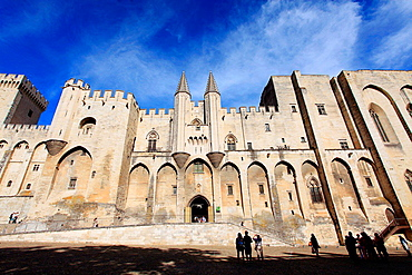 The Palais des Papes in Avignon, Vaucluse, Provence-Alpes-Cote d'Azur, France