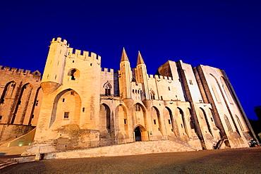 The Palais des Papes of Avignon, Vaucluse, Provence-Alpes-Cote d'Azur, France