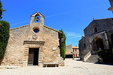 The medieval village of Les Baux de Provence, Bouches du Rhone, 13, PACA, France.