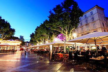 The Place de l'horloge in Avignon, Vaucluse, 84, PACA, France.