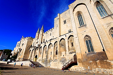 Avignon, The Palais des Papes, Vaucluse, 84, PACA, France.