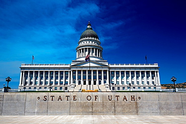 The Utah State Capitol, house of government for the U.S. state of Utah, Salt Lake City, Utah, USA