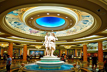 The lobby of Caesars Palace Hotel. Las Vegas, Nevada, USA.
