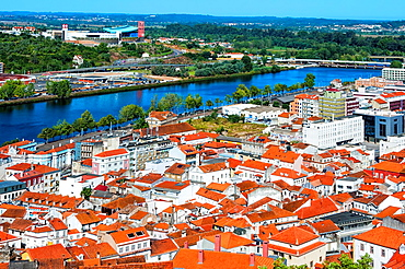 View over the old city and the Mondego river, Coimbra, Beira Province, Portugal, Unesco World Heritage Site.