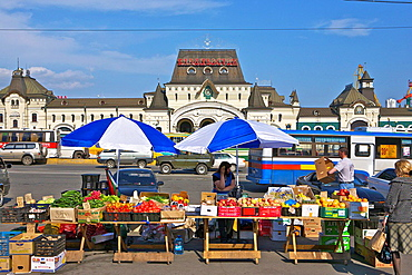 Main Train Station, Farmer's Market. Vladivostok. Russia