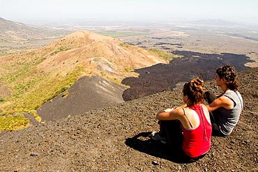 Views from the top of Cerro Negro volcano, Leon, Nicaragua