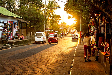 Traffic on the streets of Catarina village, Nicaragua.