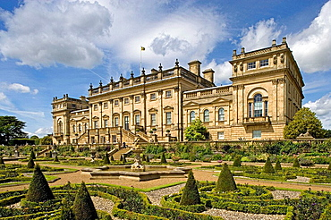 Harewood House, Edwin Lascelles' mansion, designed by John Carr of York, 1759, palladian style, UK, West Yorkshire