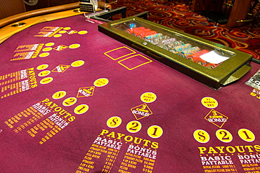 Casino Interior, Harrah's Hotel and Casino, Las Vegas, Nevada, USA.