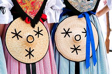 Europe, France, Fayence, Var. Provencal festival. Costume detail.