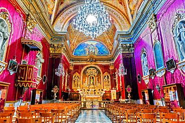 Europe, France, Alpes-Maritimes, Menton. Saint-Michel Basilica.