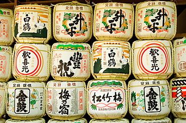 Kasuga Taisha Shrine, Nara, Japan, Sake casks, Offerings to Shinto Gods, Spirits.