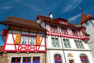 Swiss architecture, town of Sempach, canton Luzern, Switzerland, Europe.