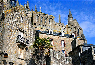 Benedictine abbey Mont Saint-Michel, listed as World Heritage by UNESCO, Normandy, France.