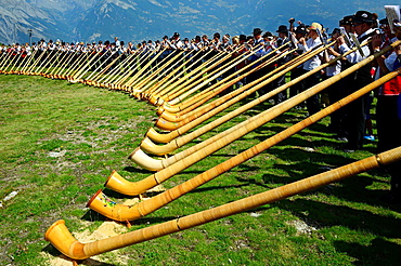 International Alphorn Festival, 27-29 July 2013, Nendaz, canton Valais, canton Wallis, Switzerland.