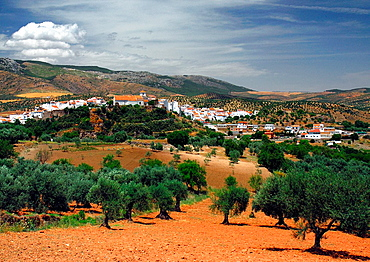 one of famous white villages in Andalusian inland, Andalusia, Spain.