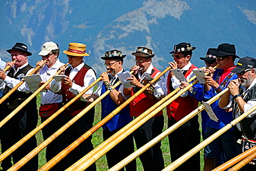 International Alphorn Festival, July 2013, Nendaz, canton Valais, canton Wallis, Switzerland