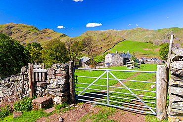 View over rural landscape, Martindale in the Lake District National Park, Cumbria, England, UK, Europe.