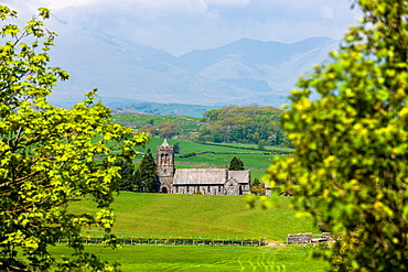 St Luke's Church near Lowick Green in the Lake District National Park, Cumbria, England, UK, Europe.