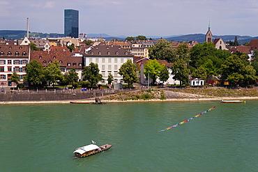 Oberer Rheinweg riverside, Basel, Switzerland.
