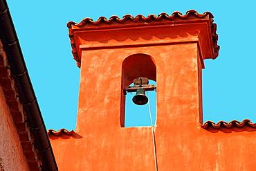 Town hall at citadel, Villefrance-sur-Mer, touristic village in Cote d'Azur, France.