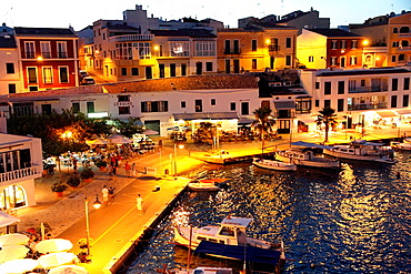 Cales Fonts at dusk, Es Castell, Minorca, Balearic islands, Spain.