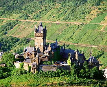 Reichsburg Castle, Cochem, Mosel Valley, Germany
