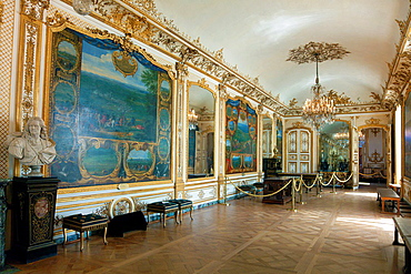 Inside of the Chantilly castle, Picardie, France.