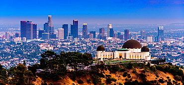 Los Angeles skyline with Griffith Observatory, Califonrnia, USA.