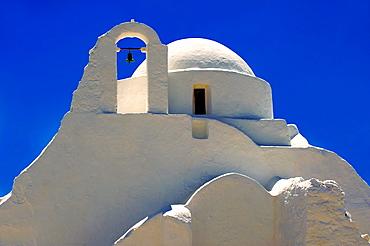Paraportiani Greek Orthodox churches of Mykanos Chora, Cyclades Islands, Greece.