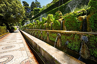 The Hundred Fountains, 1569, Villa d'Este gardens, Tivoli, Italy, Unesco World Heritage Site.