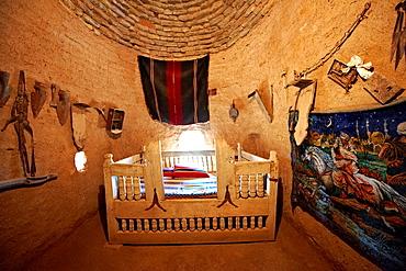 a beehive shaped adobe buildings of Harran, south west Anatolia, Turkey. Harran was a major ancient city in Upper Mesopotamia Turkey, 24 miles 44 kilometers southeast of Urfa.