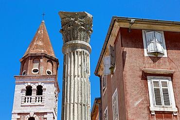 St Simeon church and column, Zadar, Croatia.