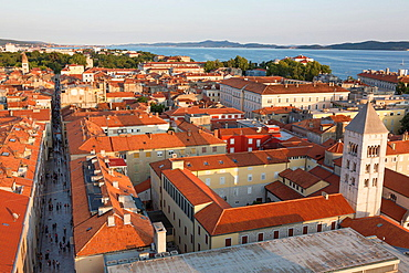view on old town and St. Mary's church, Zadar, Croatia.