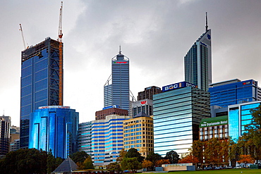 City Centre Skyline, Perth, Australia.