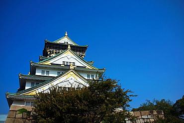 Osaka castle, Osaka, Kansai, Japan.