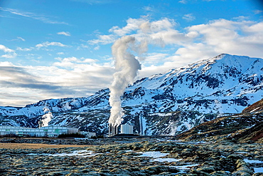 Nesjavellir Geothermal Power Plant, Iceland.