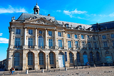 Area listed as World Heritage by UNESCO, Place de la Bourse, Stock Exchange, Bordeaux, Gironde, Aquitaine, France, Europe.