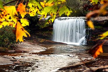 Living Waters Waterfall, Balsam Grove, North Carolina USA.
