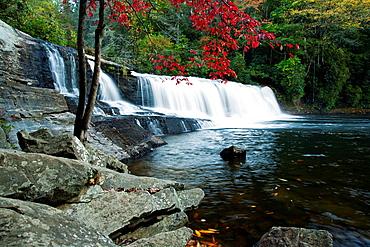 Hooker Falls, Dupont State Forest, Brevard, North Carolina USA.