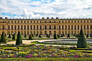 Gardens and Palace of Versalles, France.