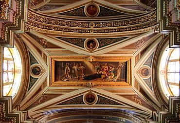 Malta, Valletta, Oratory of St Francis, interior.