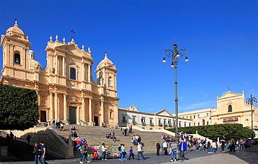 Italy, Sicily, Noto, San Nicolo Cathedral.