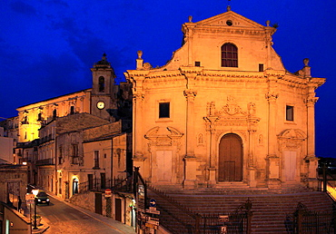 Italy, Sicily, Ragusa Ibla, Anime del Purgatorio Church.