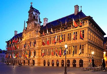 Belgium, Antwerp, Grote Markt, Stadhuis, City Hall.