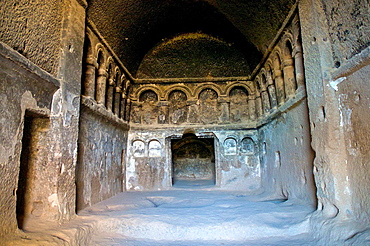 Rock-hewn Selime Monastery. Cappadocia, Central Anatolia, Turkey.