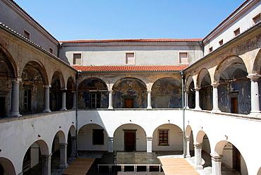 Castle Frankopan, build in XVII century, city of Kraljevica, Adriatic sea coastline, Croatia, Europe.