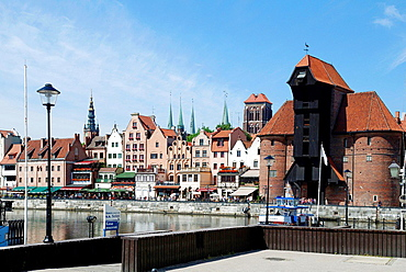 Old Port of Gdansk with the Crane as landmark of the Hanseatic city